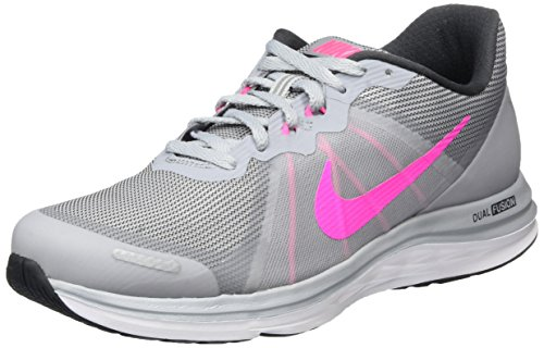 nike Womens Dual Fusion X 2 Runing Trainers 819318 Sneakers Shoes (US 7.5, wolf grey pink blast anthracite white 007)