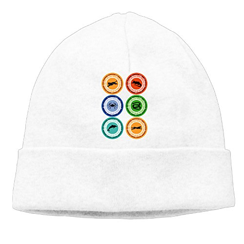 [SBJML Adult Wild Kratts Beanie Skully Cap Hat Watch Hat Ski Cap Hat White] (Aviva Wild Kratts Costume)