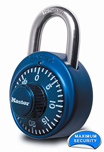 Master Lock 1530DCM X-treme Combination Lock in Blue, 3-Pack
