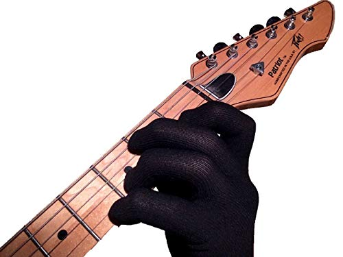 Guitar Glove, Bass Glove, Musician's Practice Glove -S- one - fits either hand - COLOR: BLACK