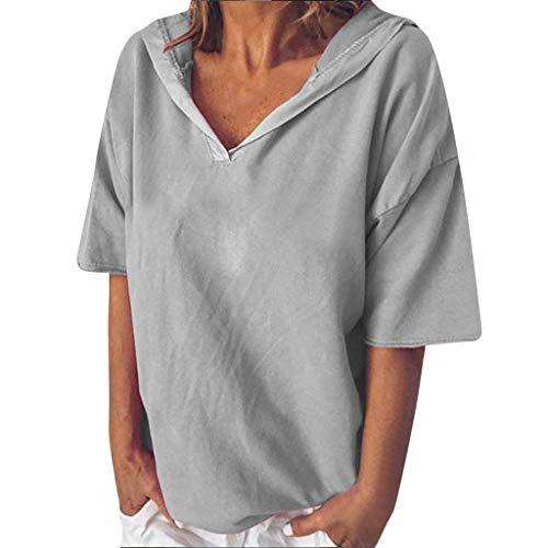 VEZAD Short Sleeve V-NeckBlouse Women Fashion Casual Letter PrintTops T-Shirt