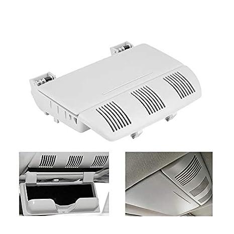 Semoic Caja De Vidrios De Control Central De Coche Caja De Almacenamiento para Skoda Octavia Fabia Roomster 1Z0868565E 1Z0868565 Gris