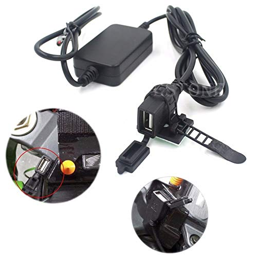12V 2A Dual USB Powerport Charger for Smartphone for iPhone for Android GPS Motorcycle #L060# New