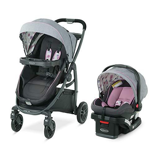 Graco Modes Bassinet Travel System | Includes Modes Bassinet Stroller and SnugRide SnugLock 35 Infant Car Seat, Carlee