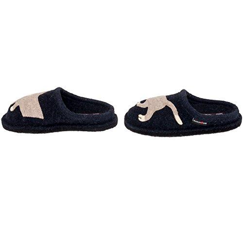 Pantofole Da Donna In Lana Cotta Haflinger - Babsy Cat Europeo Casa Interna Scarpa Marina