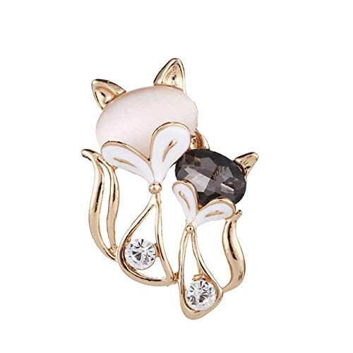 New Gold Filled Stone Fox Brooches Brooch Pin Badge Emblem Corsage Women