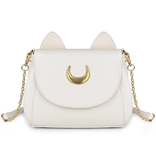 Fantastic Zone Moon Luna Cat Purses Pu Leather Gothic Purse Cosplay Moon Sailor Bag Handbags Shoulder Bags for Women