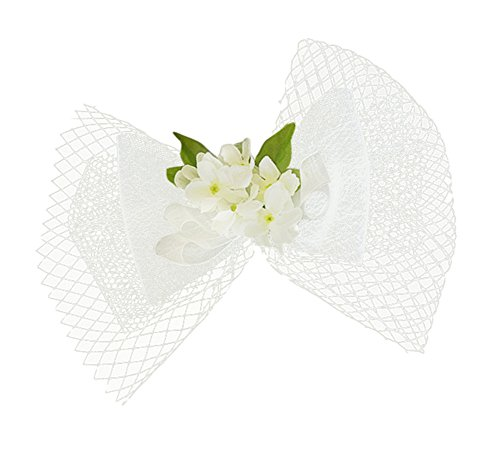 Aimeely Children Girls exaggeration Bowknot Veil Sweet Flower Headwear With Clip by Aimeely