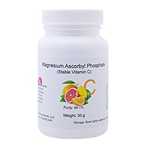 Magnesium Ascorbyl Phosphate (MAP) Powder, Stable Vitamin C, 30 g, Anti-oxidant, Skin Whitener, Lightener