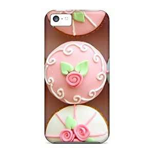 Durable Defender Case For Iphone 5c Tpu Cover(rose Cupcakes)