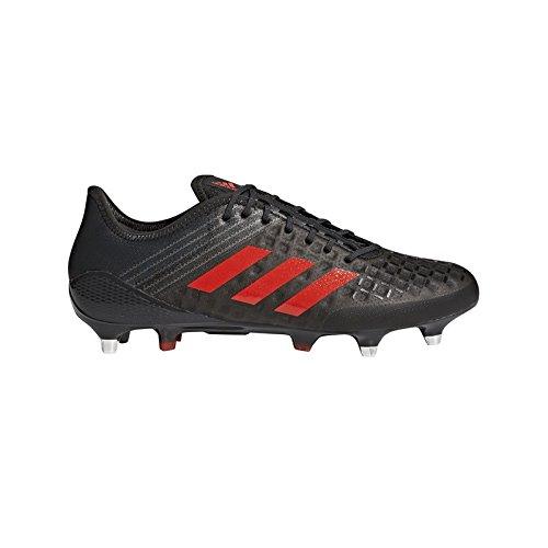 Adidas Predator Malice Control Rugby Boots - Black/Red - UK 9 (Adidas Predator Rugby)