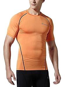 Tesla Men's Short Sleeve T-Shirt Cool Dry Compression Baselayer R13 / R14