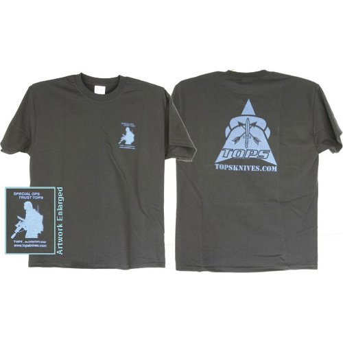 TOPS Knives T-Shirt Blue Black XXL, XXL TS-BBXXL