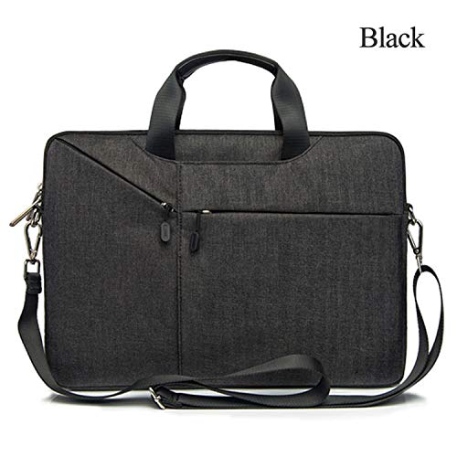 Ge-Store Laptop Bag Case 15.6 15.4 14.1 13.3 17.3 Messenger Bags for MacBook Air 13 Case Waterproof Notebook Bag,Black,for Dell Xps 15