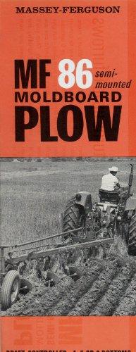 1964 MASSEY-FERGUSON MF 86 SEMI-MOUNTED MOLDBOARD PLOW PART-COLOR SALES BROCHURE - 302/264-50-1 - USA - NICE !! Massey Ferguson Plow