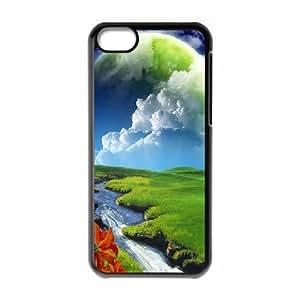 XiFu*MeiIPhone 5C Case, Girl Protective Surreal Planet Case for IPhone 5CXiFu*Mei