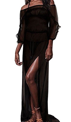 Victorias Secret Long Sheer Off The Shoulder Swim Cover Up Maxi Dress (Victorias Secret Maxi Dress)