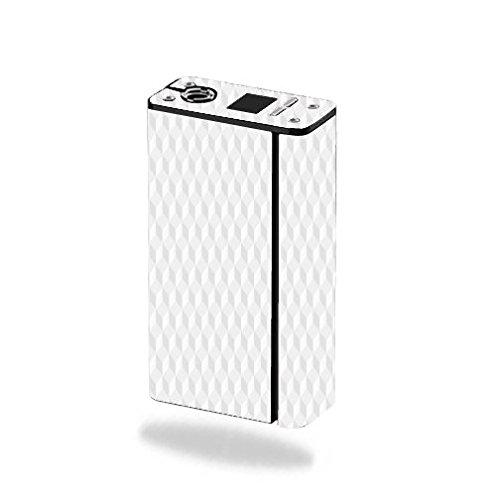 Decal Sticker Skin WRAP - Smok XCube Mini 75W - White Geometric Cube Design