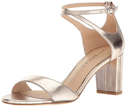 Via Spiga Women's Wendi Block Heel Dress Sandal, Rosegold Leather, 8.5 M US by Via Spiga