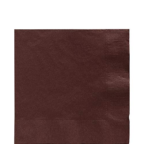 Big Party Pack Chocolate Brown Luncheon Napkins |