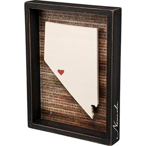 Primitives by Kathy State Pride Box Sign, Nevada