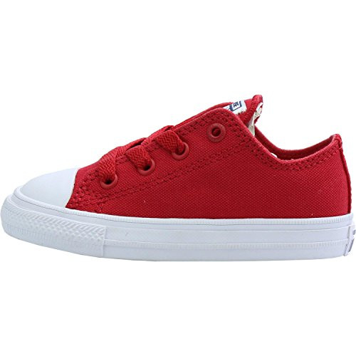 Converse Chuck Taylor All Star II OX Salsa Red Textile Baby Trainers Salsa Red