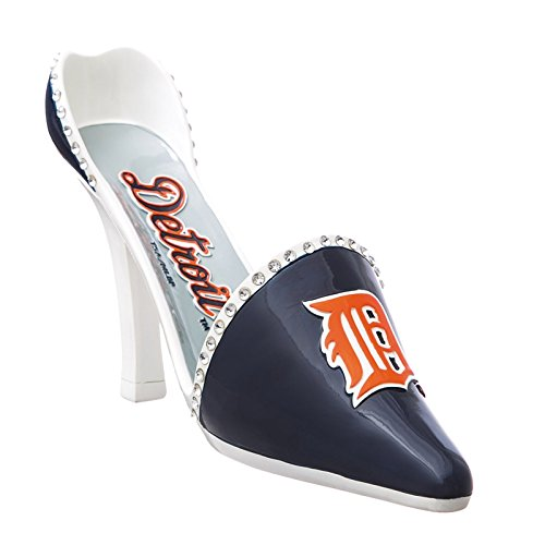 Detroit Tigers Resin Logo High Heel Shoe Wine Bottle Holder