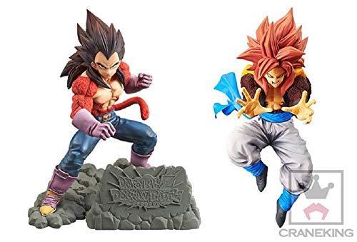 Banpresto Dragonball Z Dokkan Battle 4th Anniversary Super Saiyan 4 SS4 Vegeta & Dragon Ball GT Ultimate Fusion Big Bang Kamehameha! Figure Super Saiyan 4 SS4 Gogeta Set of 2 Toy Figure