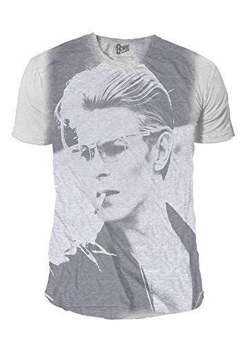 Rock Icon - David Bowie Premium Herren T-Shirt - Sublimation (Weiss) (S-XL)
