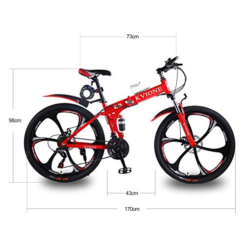 KVIONE E9 Bicicleta Hombre 26 Pulgadas Bicicleta De Montaña 21 ...