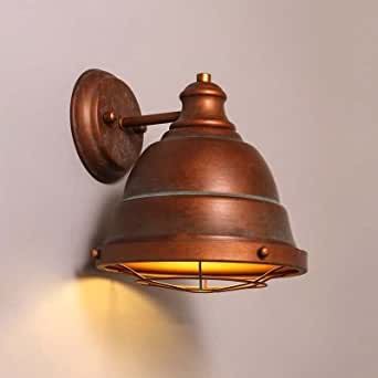hua Single Light Down Lighting Wall Sconce in Antique Copper