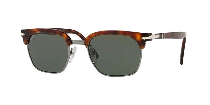 c5fb6a3829d Amazon.com  Persol Sunglasses Tortoise Green Acetate - Non-Polarized -  53mm  Persol  Clothing