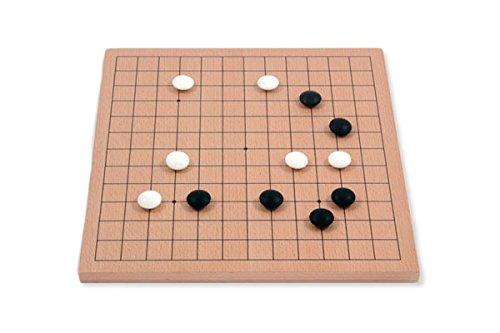 Go-Spiel: 9x9/13x13 Buchenfurnierbrett