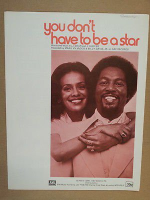 T HAVE TO BE A STAR Marilyn McCoo & Billy Davis jr 1976 ()