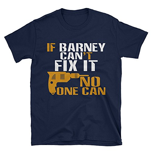 Unisex BARNEY Can Fix It T-Shirt Barney Shirt for Any Dad Father's Gift (Barney Bubble)