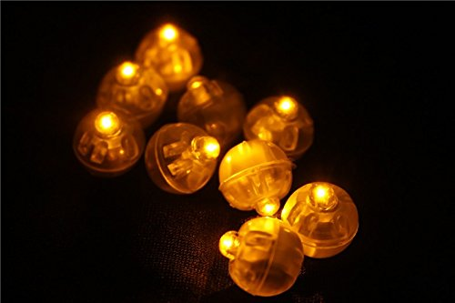 (Yellow Led Ball Lamps Mini Balloon Light For Paper Lantern Christmas Halloween Wedding Party Decoration K0194)