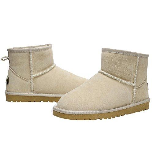 Donne Rismart Inverno Caldo Foderato In Pelliccia Stivaletti Comfort Stivali Scamosciati In Suede Sabbia Sn1054 Us4.5