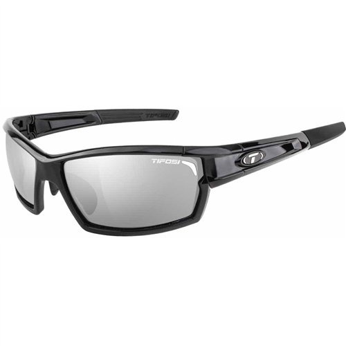Tifosi Camrock Gloss Black Interchangeable Sunglasses - Smoke/AC Red/Clear by Tifosi