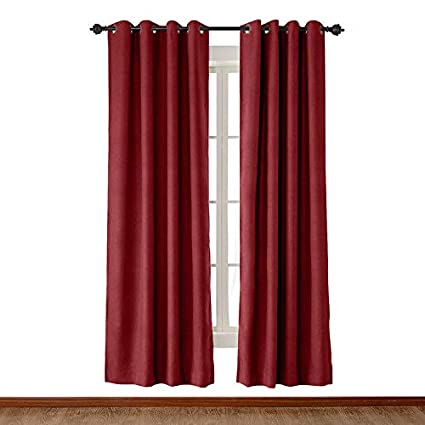 Amazon Cololeaf Extra Wide Faux Linen Textured Curtains For
