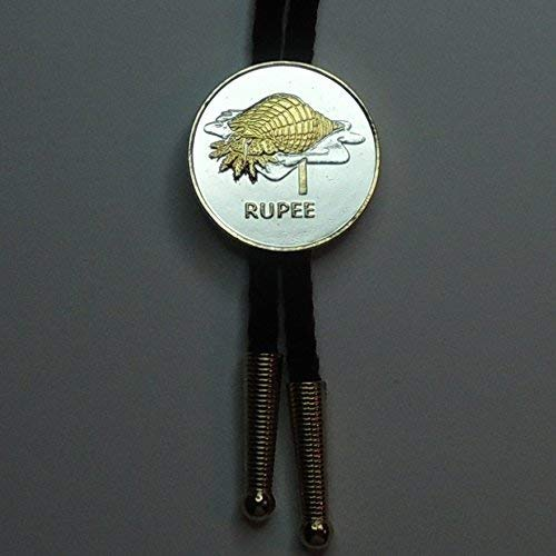 Seychelles- Conch  - Gorgeous 2-Toned (Uniquely Hand done) Gold and Silver Coin Bolo Ties for Men for women for boys for kids