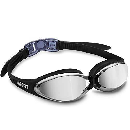 POY Swim Goggles, No Leaking Anti Fog UV Protection Swimming Goggles for Men Women Adult Youth Kids Child with Free Protection Case