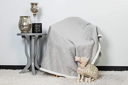 (Lala + Bash Maddie Ulta Plush Soft & Warm Sherpa Throw Blanket, 50