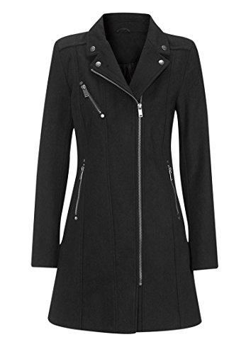 Ellos Women's Plus Size Slanted Zip Coat Black,20
