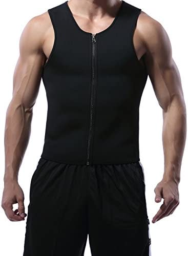 MISS MOLY Men Sweat Sauna Neoprene Shaper Vest Muscle Workout Tank Top for Weight Loss