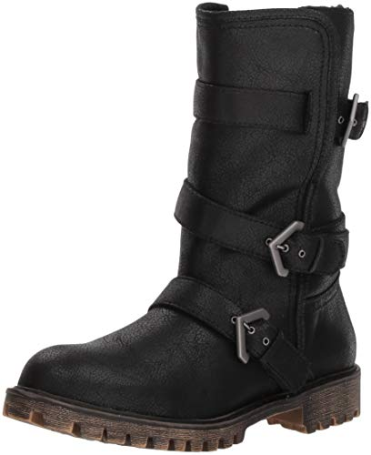 Roxy Women's Rebel Multi Strap Boot Fashion, Black, 7.5 M US