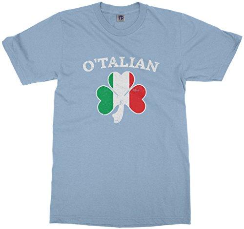 Threadrock Kids O'Talian Italian Irish Shamrock Youth T-Shirt S Light (Irish Shamrock Light T-shirt)