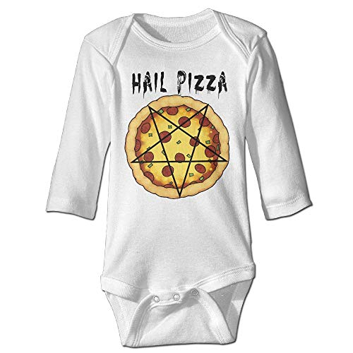 Baby Boys' and Girl's Bodysuits All Hail Pizza Food Comedy Cheesy Long Sleeve -
