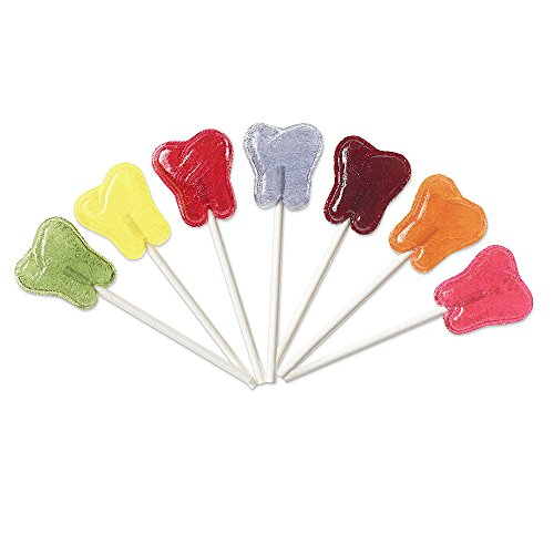 Dr. John's® Inspired Sweets® Classic Fruits Collection Sugar Free Tooth Shaped Lollipops (1 Lb) (Fruit Sweet Soy)