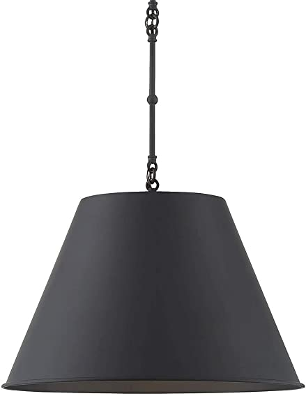Savoy House 7-132-1-89 Alden 1-Light Black Pendant 12 W x 9 H