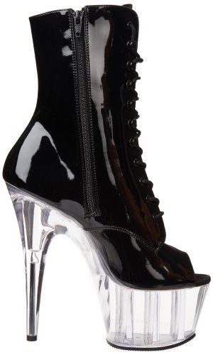 1021 Clear Adore Black Black Patent Boot Women's Pleaser wRqTEFE